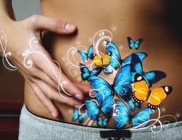 Bauch - Schmetterlinge
